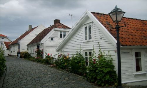 Zdjecie NORWEGIA / południe Norwegii / Stavanger / Osiedle domków w Stavanger1