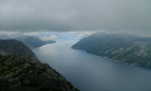Zdjecie NORWEGIA / południe Norwegii / Preikestolen, Lysefjorden / Kraina fiordów