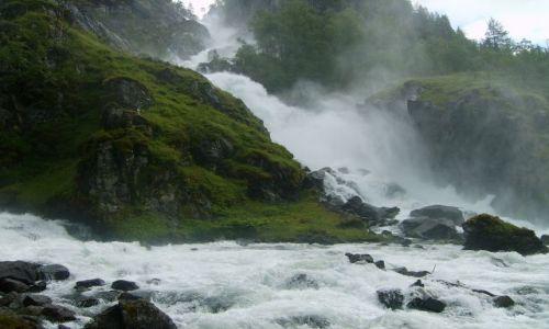 Zdjęcie NORWEGIA / południe Norwegii / Odda / Wodospad