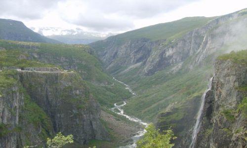 Zdjęcie NORWEGIA / okolice Eidfjord / Voringfoss / Voringfoss5