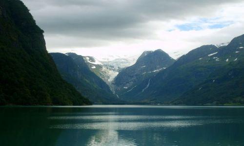 Zdjecie NORWEGIA / okolice Briksdalsbreen / brak / lodowiec