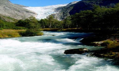 Zdjecie NORWEGIA / Jostedalsbreen Nasjonalpark / brak / Rzeka z lodowca........