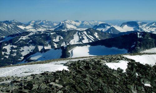 Zdjecie NORWEGIA / Jotunheimen / Goldhoppigen / Widoki ze szczytu