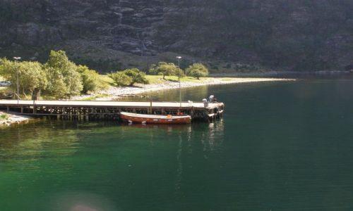 Zdjecie NORWEGIA / Południowe wybrzeże / Lysefjorden / Lysefjorden - przystań