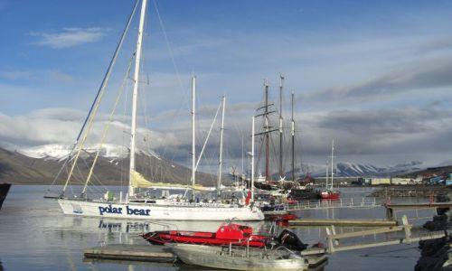 Zdjecie NORWEGIA / Svalbard / Longyearbyen / Port w Longyearbyen