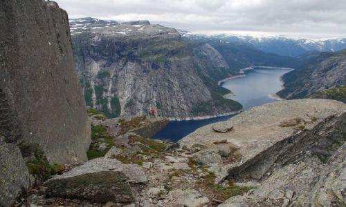 Zdjecie NORWEGIA / brak / Norwegia / Trolltunga - język Trolla