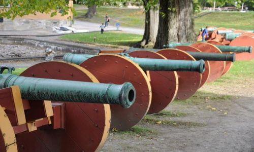 Zdjecie NORWEGIA / Oslo / Oslo - Forteca / Armaty - ale nie wodne