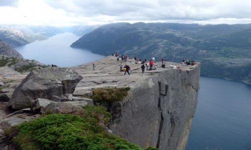 Zdjecie NORWEGIA / Forsand / Lysefjorden / Preikestolen - ambona