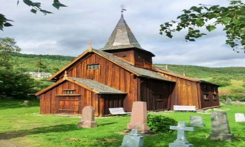 NORWEGIA / Hallingdal / Hol / kościółek