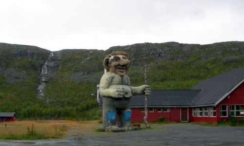 Zdjecie NORWEGIA / Norland / granica norwesko-szwedzka / troll