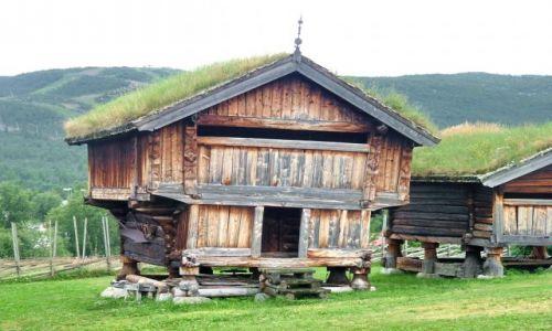 NORWEGIA / Oppland / Geilo / Dom wikingów ? Skansen w Geilo