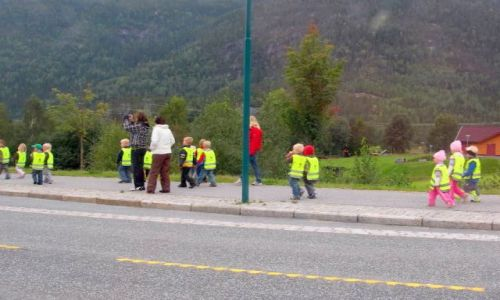 Zdjęcie NORWEGIA / okolice Sognefjordu / okolice Sognefiordu / widoczne z daleka norweskie przedszkolaki