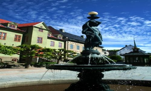 NORWEGIA / Oslo / Bygdoy / Fontanna