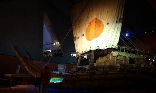NORWEGIA / Oslo / Bygdoy / Papirusowa łódź Ra II Thora Heyerdala