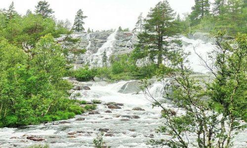 Zdjecie NORWEGIA / Nordland / m6 / Spokojny wodospad
