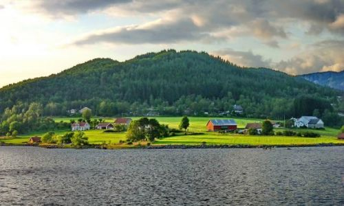 NORWEGIA / nordland / nordland - przeprawa / Łąka