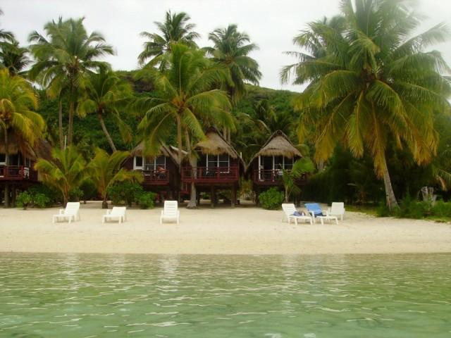"""Zdjęcia: atol Aitutaki, Wyspy Cooka, nasze domki  w """"raju"""", NOWA ZELANDIA"""