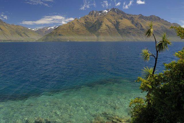 Zdjęcia: wyspa polodniowa, jeziorko II, NOWA ZELANDIA