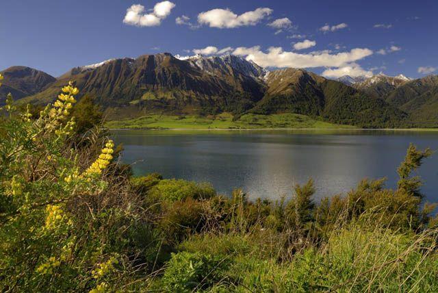 Zdjęcia: wyspa polodniowa, jeziorko III, NOWA ZELANDIA