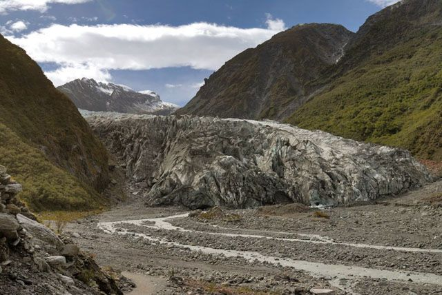 Zdjęcia: wyspa polodniowa, czolo lodowca, NOWA ZELANDIA