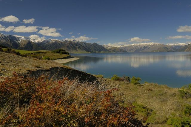 Zdjęcia: wyspa polodniowa, jeziorko, NOWA ZELANDIA