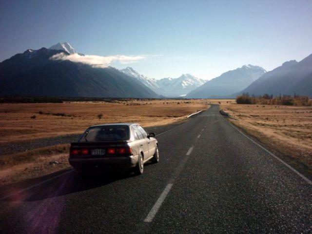 Zdjęcia: State Highway No 80, Wyspa Południowa, w drodze do Mount Cook (3755 mnpm), NOWA ZELANDIA