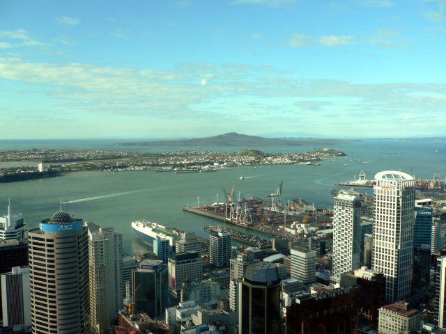 Zdjęcia: widok ze Sky Tower, Wyspa Polnocna, Auckland, Huraki Bay, NOWA ZELANDIA