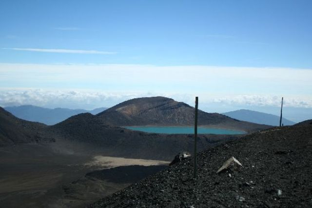 Zdjęcia: Tongariro Crossing, Blue lake, NOWA ZELANDIA