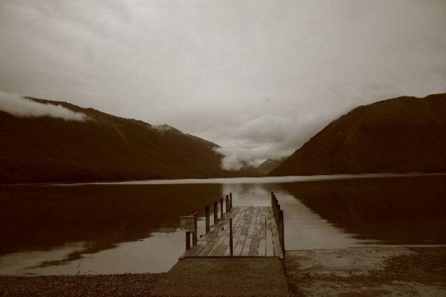 Zdjęcia: Nelson Lakes, Nelson Lakes o poranku, NOWA ZELANDIA