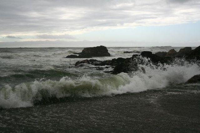 Zdjęcia: Zachodnie wybrzeże, Wzburzone  - jak zwykle - morze Tasmana, NOWA ZELANDIA