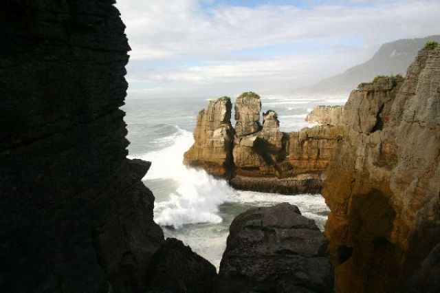 Zdjęcia: Zachodnie wybrzeże, skały naleśnikowe, NOWA ZELANDIA