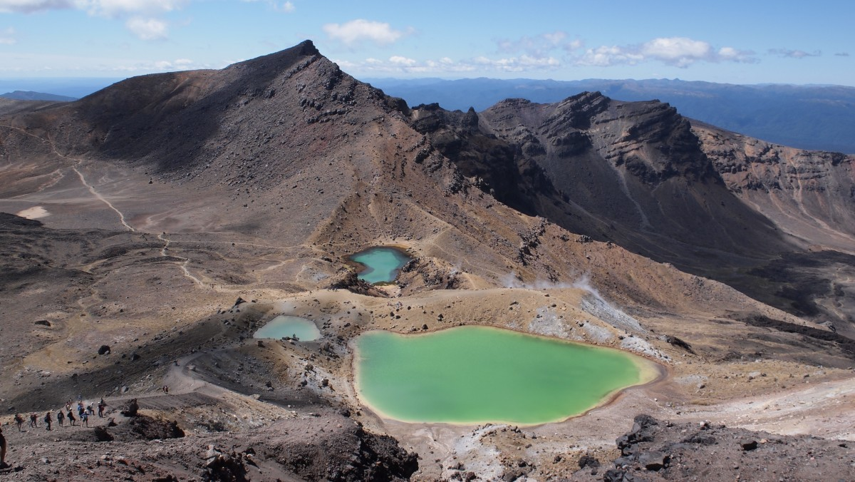 Zdjęcia: Tongariro Alpine Crossing, Emerald Lakes, Tongariro Alpine Crossing, NOWA ZELANDIA