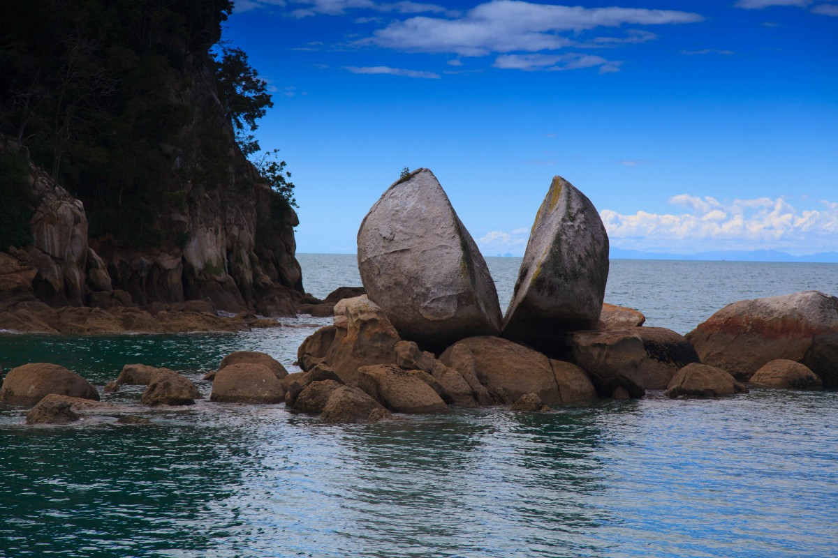 Zdjęcia: Abel Tasman, South Island, Split Apple Rock, NOWA ZELANDIA