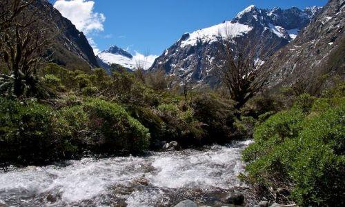 Zdjecie NOWA ZELANDIA / - / Milford Sound / Rzeczka w gorach (New Zealand)