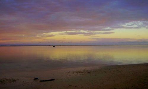 Zdjecie NOWA ZELANDIA / Cook Islands / atol Aitutaki / magiczna chwila o świcie - Atol Aitutaki