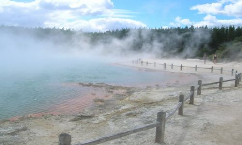 Zdjecie NOWA ZELANDIA / Rotorua / park gejzerow / Goraca woda ,+230C