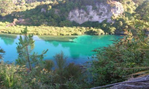 Zdjecie NOWA ZELANDIA / PN. wyspa / Lake Taupo-miasto / Cudne kolory..