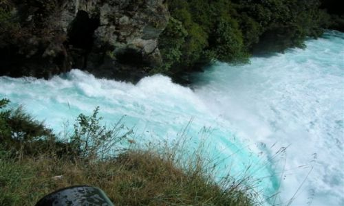 Zdjecie NOWA ZELANDIA / Pn. wyspa / Lake Taupo-miasto / Wodospad Huka..