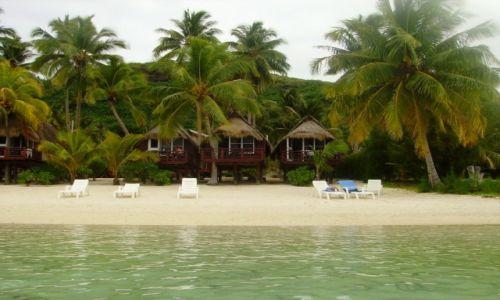 NOWA ZELANDIA / Wyspy Cooka / atol Aitutaki / nasze domki  w