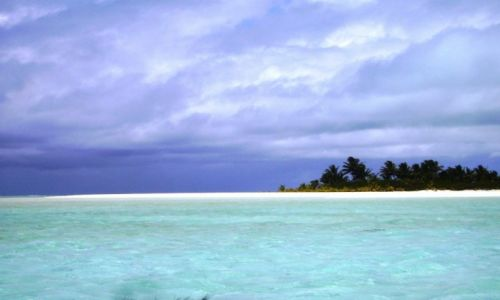 NOWA ZELANDIA / Wyspy Cooka / atol Aitutaki / bezludne wysepki koralowe