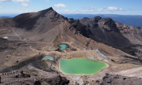 NOWA ZELANDIA / - / Tongariro Alpine Crossing, Emerald Lakes / Tongariro Alpine Crossing