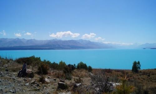 Zdjęcie NOWA ZELANDIA / Wyspa Południowa / Jezioro Pukaki / Niebieskie jezioro