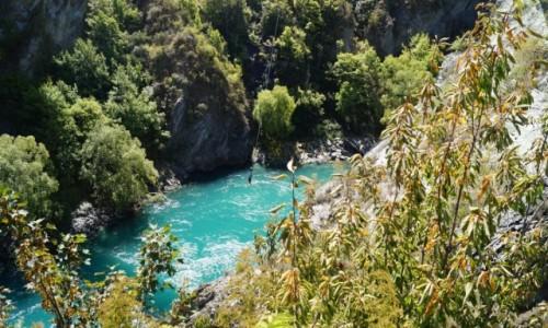 Zdjecie NOWA ZELANDIA / Wyspa Po�udniowa / most Kawarau / Skok na bungee