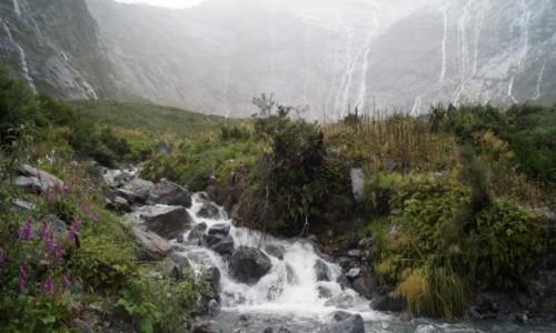 Zdjecie NOWA ZELANDIA / Wyspa Po�udniowa / Fiordlandia / Ulewa w Fiordla