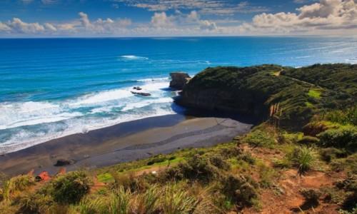 NOWA ZELANDIA / Auckland / Muriwai  / Plaża Muriwai