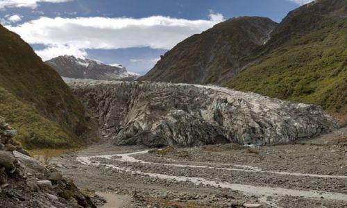 Zdjęcie NOWA ZELANDIA / brak / wyspa polodniowa / czolo lodowca