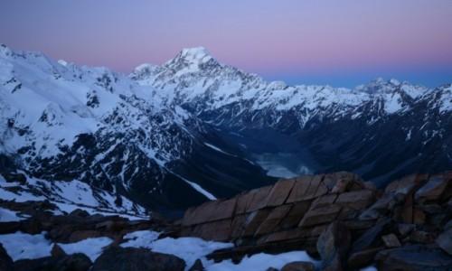 Zdjecie NOWA ZELANDIA / Mt cook / Mt Cook Park / Zachód nad Mt Cook