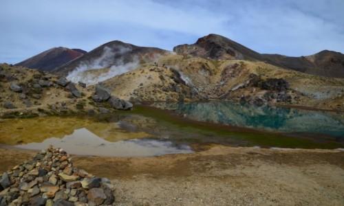 Zdjecie NOWA ZELANDIA / Tongariro / Blue Lake / Podróż na początek świata