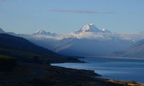 NOWA ZELANDIA / Aoraki NP / Pukaki Lake / Mt. Cook