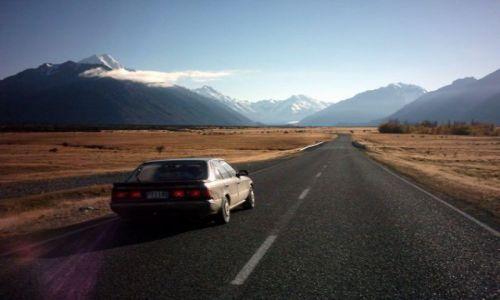 Zdjecie NOWA ZELANDIA / Wyspa Południowa / State Highway No 80 / w drodze do Mount Cook (3755 mnpm)